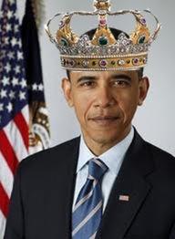 Barack Obama wearing his kings crown