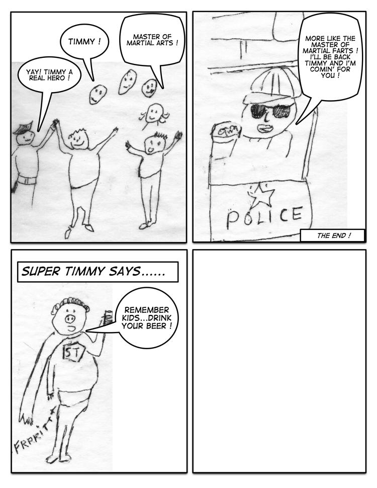 Comic strip by Bobby Bou