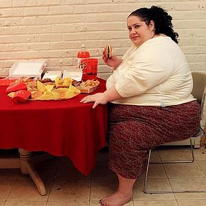 fat,fat woman,mcdonalds customer fat,humor, fat cow